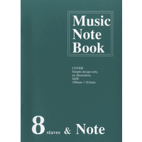 Music Note Book NO.262 8段