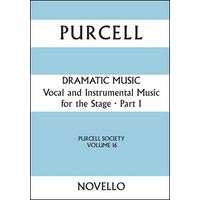 Purcell Society Vol.16-Dramatic Music Part1/ Laurie編