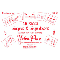 Musical Signs and Symbols Set 2: 24 Cards 48 Sides Flash Cards Moppet