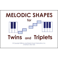 Melodic Shapes for Twins and Triplets: 48 Flashcards
