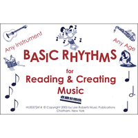 Basic Rhythms Flashcards for Reading & Creating Music