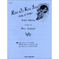 Ride on, King Jesus ヘ長調/Johnson編曲