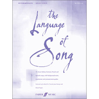 Language of Song, The: 中級編(高声用): CD付