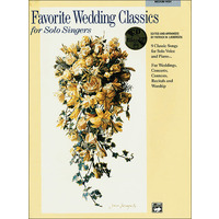 Favorite Wedding Classics for Solo Singers(中/高声用)/Liebergen編: 伴奏用CD付