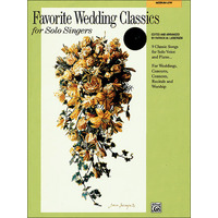 Favorite Wedding Classics for Solo Singers(中/低声用)/Liebergen編: 伴奏用CD付