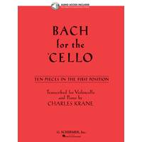 Bach for the Cello: 10 Easy Pieces in 1st Position(CD付)/Krane編