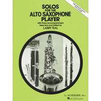 Solos for the Alto Saxophone Player/Teal編曲