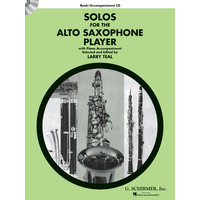 Solos for the Alto Saxophone Player(CD付)/Teal編曲