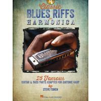 Classic Blues Riffs for Harmonica: 25 Famous Guitar & Bass Parts/TAB譜(CD付)